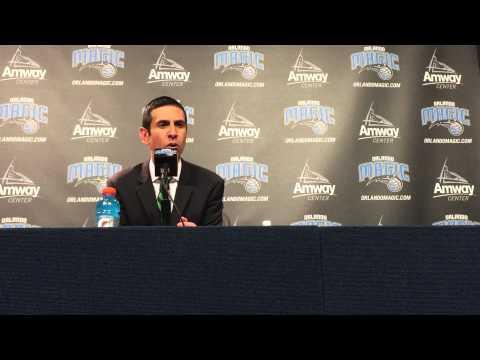 James Borrego Postgame Press Conference (3/25/15 vs Hawks)