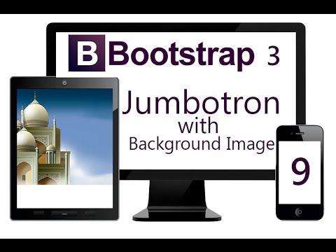 Using Bootstrap Jumbotron With Fixed Background Image Youtube