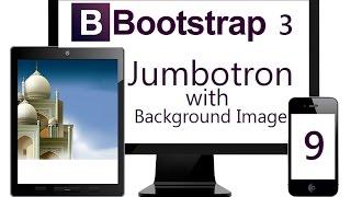 Using Bootstrap Jumbotron with Fixed Background Image