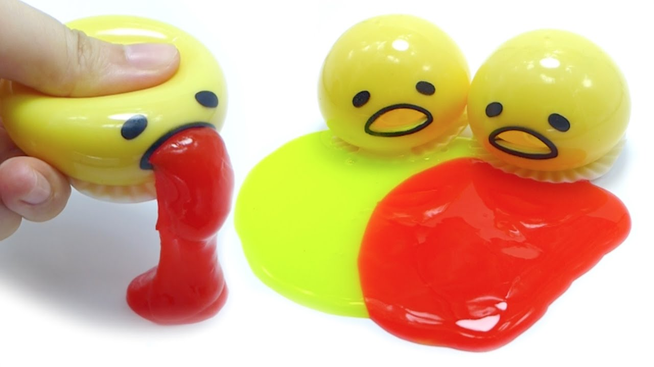Gudetama Vomit Slime Squeeze Toy - YouTube