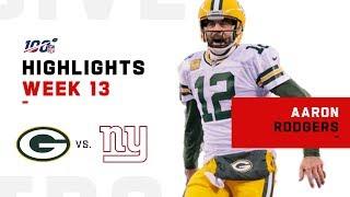 Aaron Rodgers CRUSHES Giants w/ 4 Big TDs