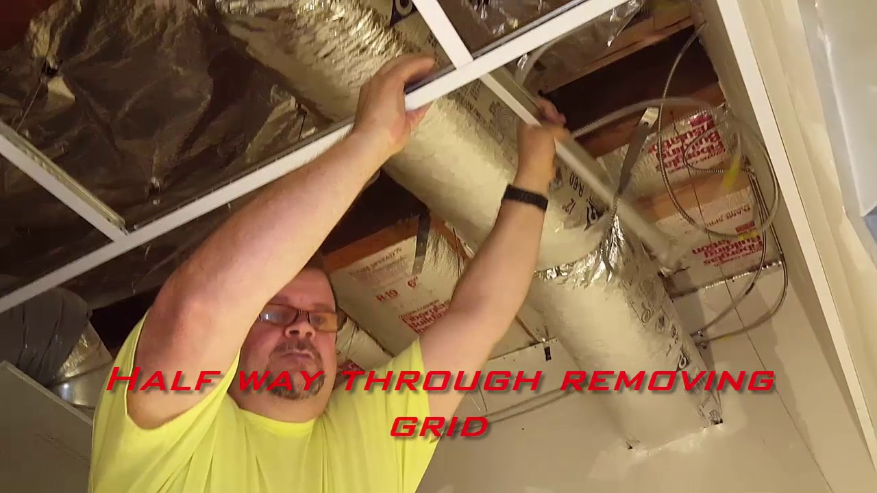 Ceiling Grid Removal