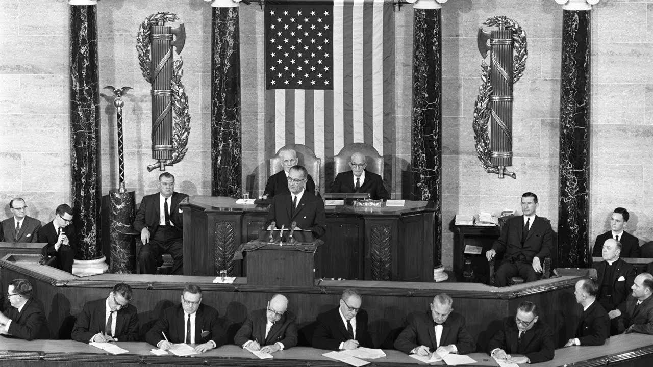 Great american speech lyndon johnson example