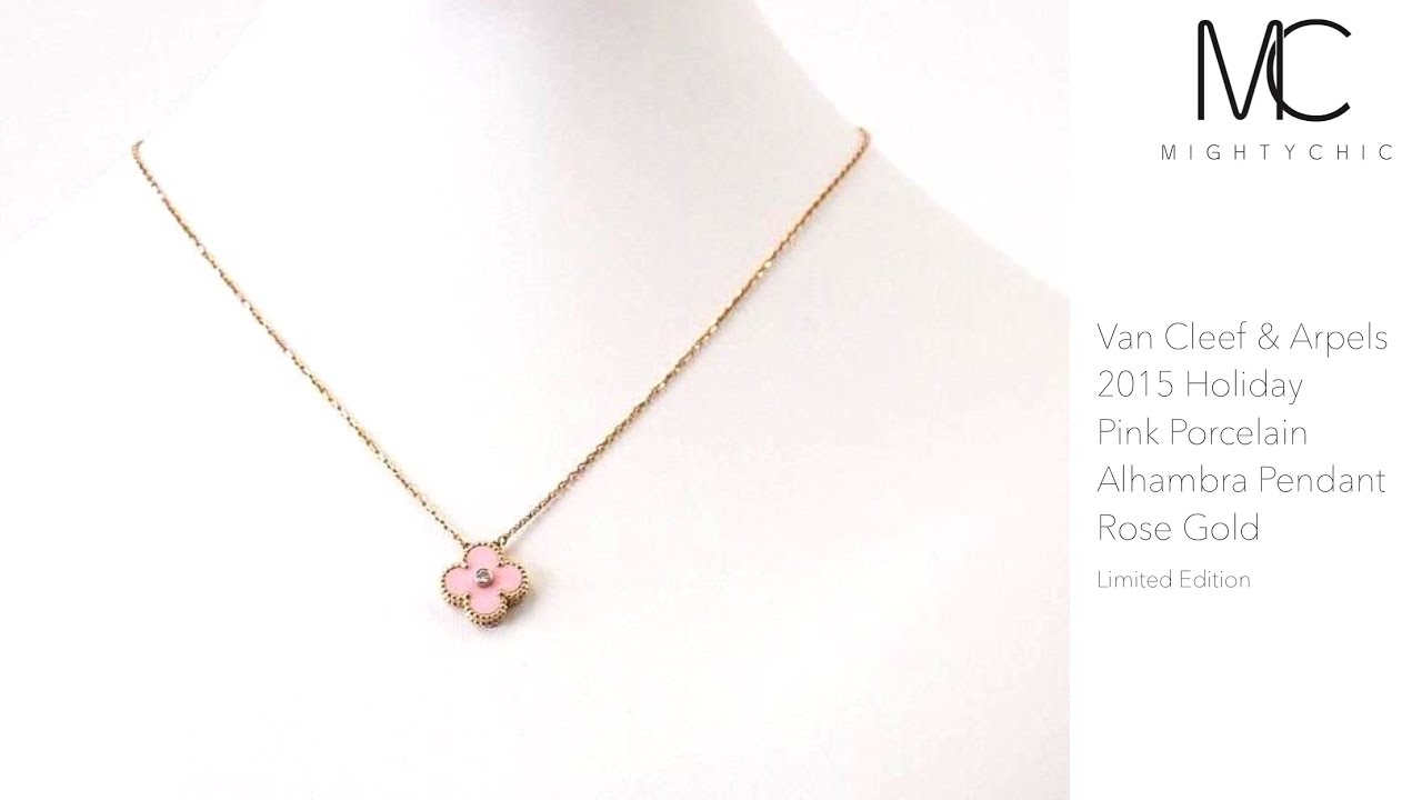 Van cleef limited edition pink pendent holiday 2015 avaialble on van cleef limited edition pink pendent holiday 2015 avaialble on mightychic aloadofball Images
