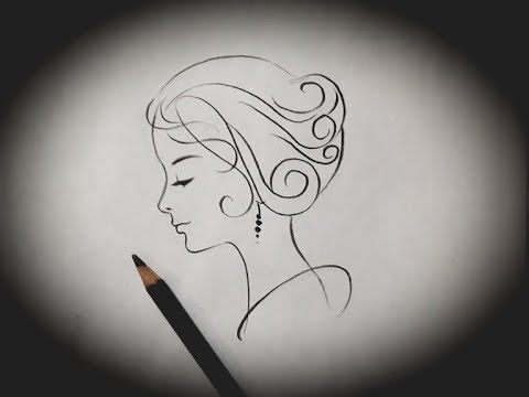 How To Draw A Girl Side Face Sketch Simple Easy Line Drawing Tutorial For Beginners Step By Step