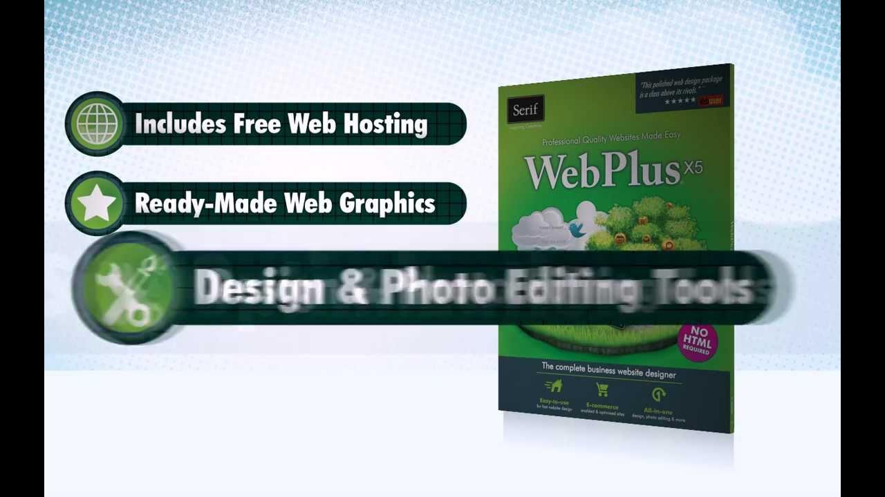 Serif WebPlus X5 Web Design Software - Create a Website Now! - YouTube