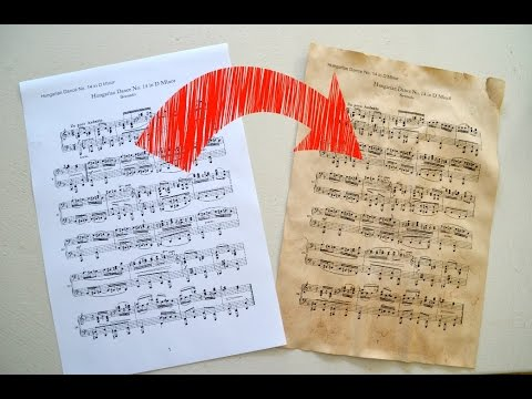 How to change WHITE paper into BROWN VINTAGE paper (sheet music)