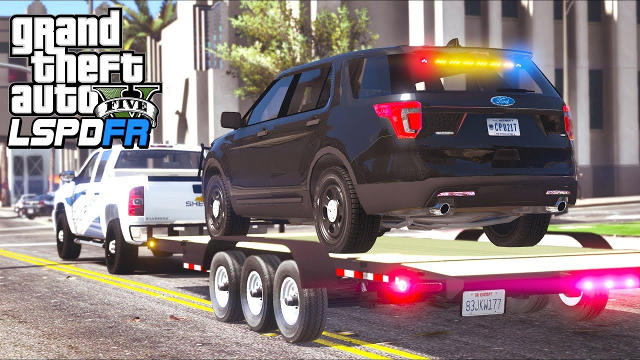 GTA 5 - LSPDFR Ep487 - Taking FBI's Explorer to a Body Shop!!