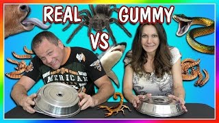HORRIBLE REAL FOOD VS GUMMY FOOD CHALLENGE | PARENTS EDITION | We Are The Davises