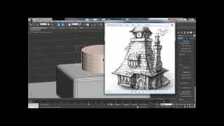 """""""speed modeling"""" how to create old house"""