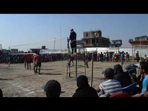कास्की र गुल्मी  को भलीबल खेल मा एस्तो लफडा भो हेर्नुस्