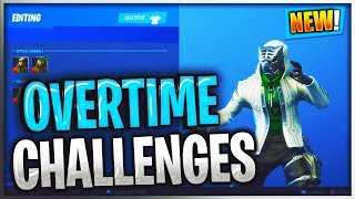 Fortnite SEASON 8 OVERTIME CHALLENGES FREE SKINS