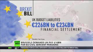 Brussels demands UK pays £10bn for EU civil servants