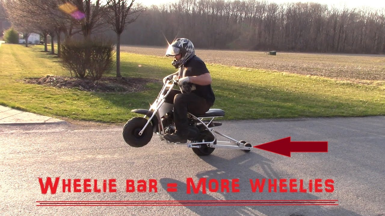 We made a wheelie bar, lets see how it works
