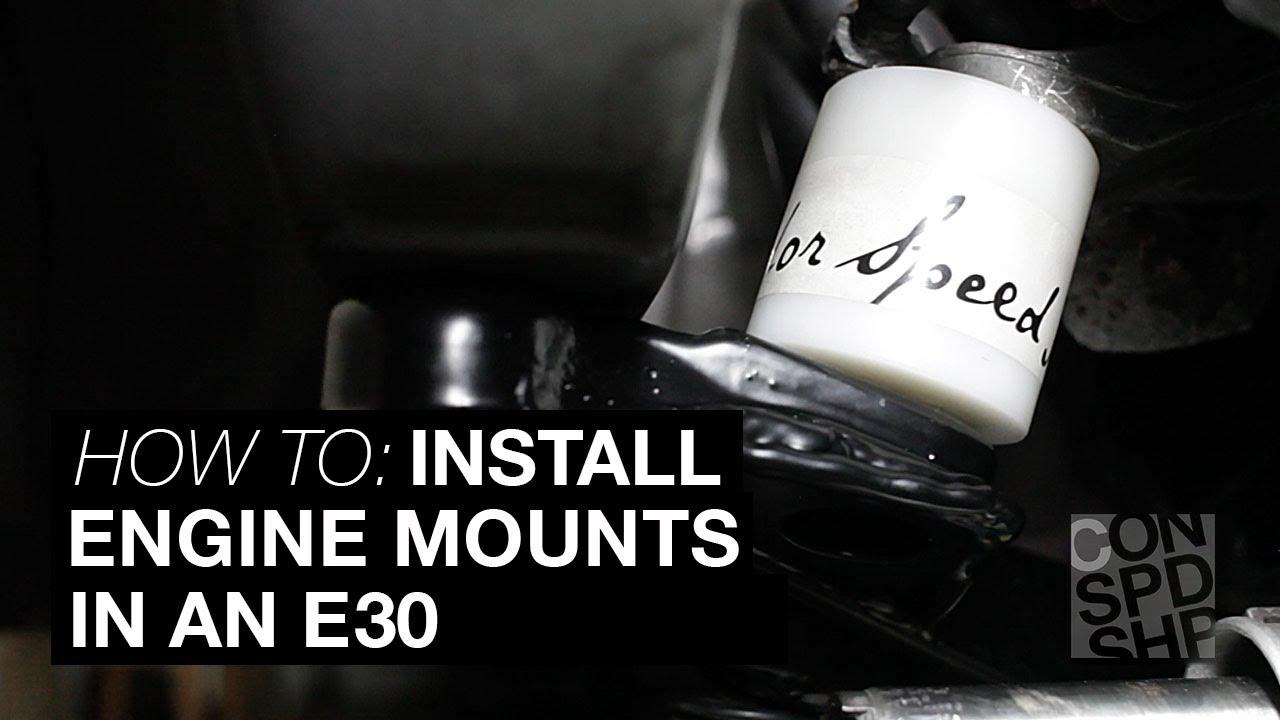 S5x/M5x Swap Engine Mount Set - E30