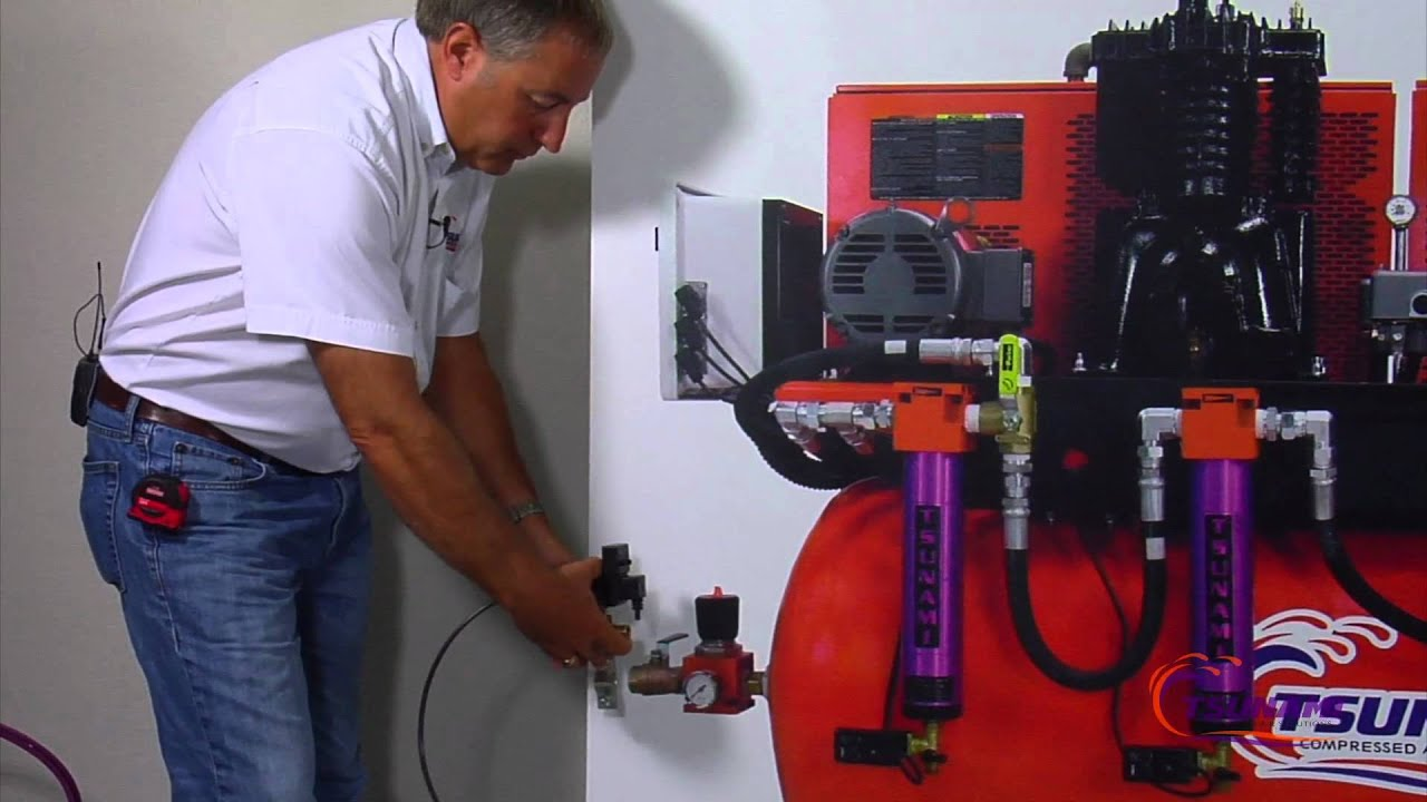 Remove Water In Compressor Electronic Drain Valve Youtube
