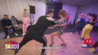 Sergey Shepilov and Anastasia Okladnikova Salsa Dancing at 3 Front Relax in Hotel Don-Plaza 04.08.19