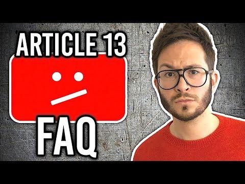 ARTICLE 13, YouTube nous manipule ?! NON ! Explications...