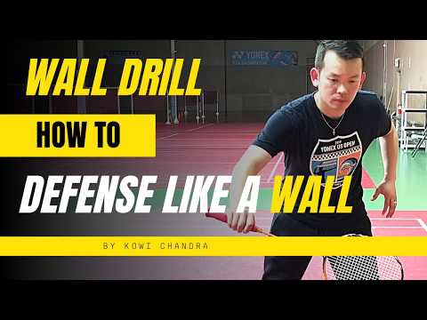 Badminton HOW TO : Defense Like A Wall (Wall Drill Exercise)