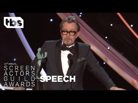 Gary Oldman: Acceptance Speech   24th Annual SAG Awards   TBS