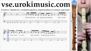 Как играть на Блокфлейте G. Passenger Let Her Go часть 2 самоучитель уроки обучение ноты школа курсы