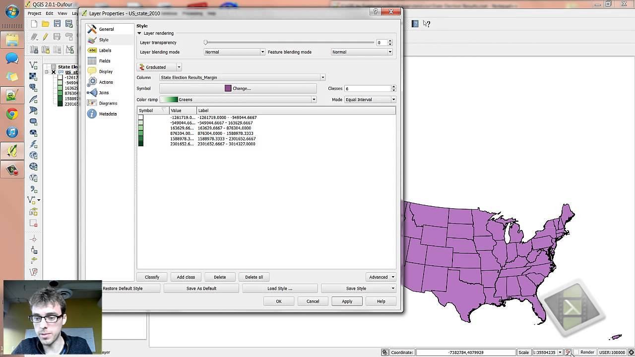 Qgis How To Make A Chloropleth Map 2012 Presidential Election Style