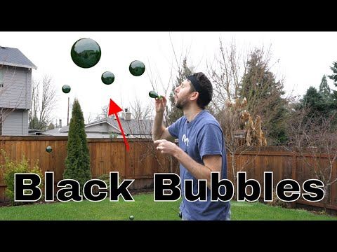 Blowing The World's First Black Bubbles—The Physics of Light Penetration Experiment