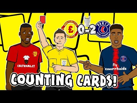 🔴POGBA RED CARD - Counting Cards!🔴 Man Utd vs PSG 0-2 Parody Song Goals Highlights
