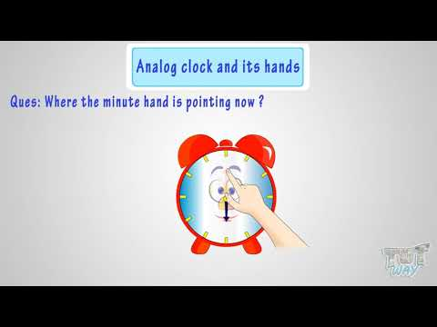 Let's learn about Hour Hand And Minute Hand | Math | Grade-1,2 | Tutway |