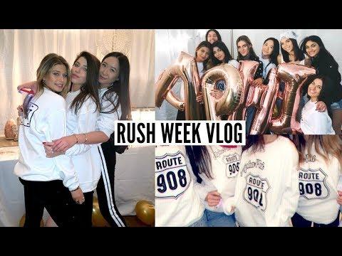RUSH WEEK VLOG 2019 // bid day + outfits: Indiana University