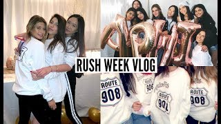 RUSH WEEK VLOG 2019 // bid day + outfits: Indiana University