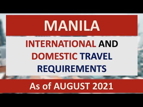MANILA TRAVEL REQUIREMENTS as of AUGUST 2021 | DOMESTIC & INTERNATIONAL | via PAL, AIR ASIA, CEBPAC