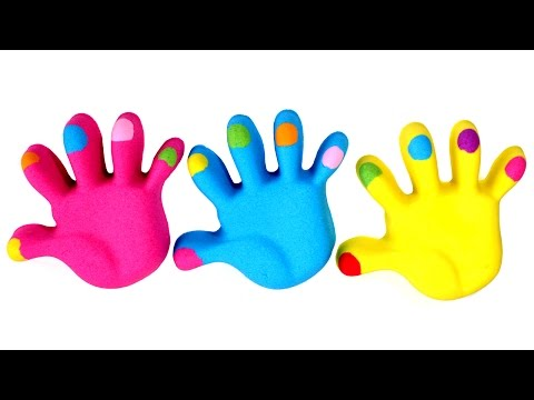 Thumbnail: DIY Kinetic Sand Hands Colorful Nails Learn Colors Play Doh Animals for Kids
