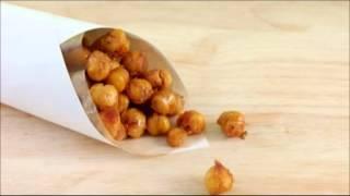 Garbanzos tostados, un snack saludable y dietético