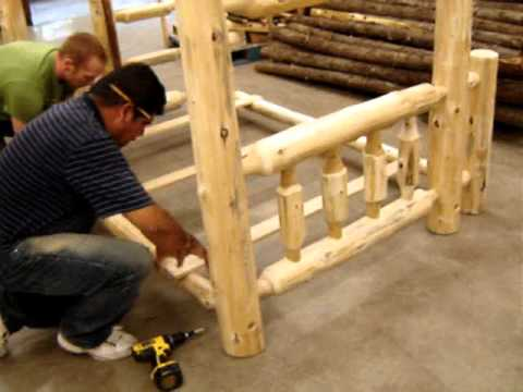 The Log Furniture Store   Our Bunk Bed Assembly   YouTube