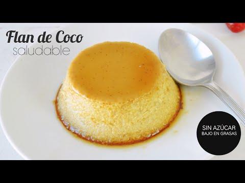 FLAN DE COCO SALUDABLE | SIN AZÚCAR, SIN GRASAS Y MUY FÁCIL