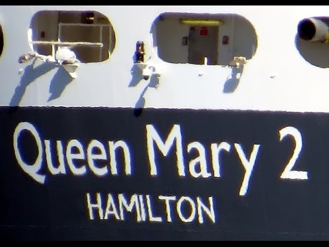 Queen Mary II Cruise Ship Departs Halifax Nova Scotia