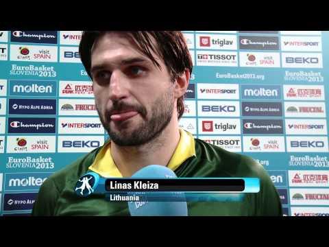 Postgame L. Kleiza, D. Draper LTU-CRO EuroBasket 2013