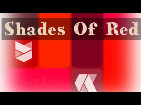 Different Shades Of Red different shades of red color - youtube