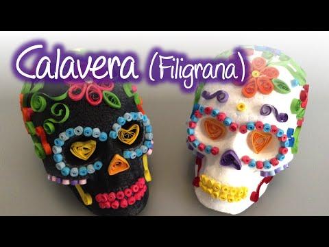 Calaveras Decoradas Con Filigrana Quilling Skulls Youtube