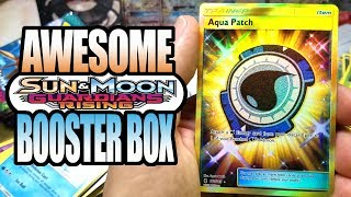 WE PULLED GOLD! AWESOME POKEMON GUARDIANS RISING BOOSTER BOX! POKEMON UNWRAPPED