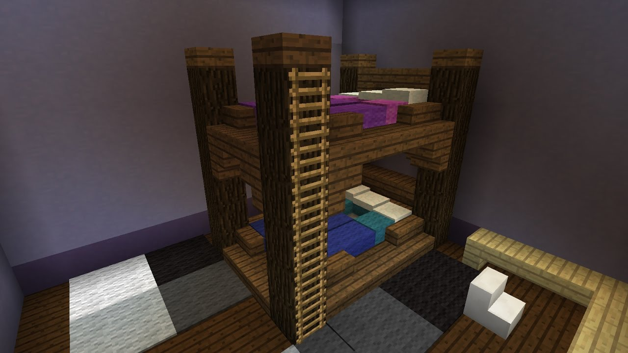 comment faire un lit superpos minecraft youtube. Black Bedroom Furniture Sets. Home Design Ideas