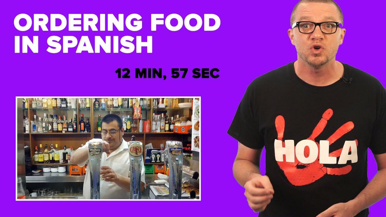 Ordering Food In Spanish Youtube