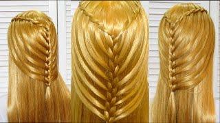 Прическа в школу с плетением на длинные и средние волосы Hairstyle for school