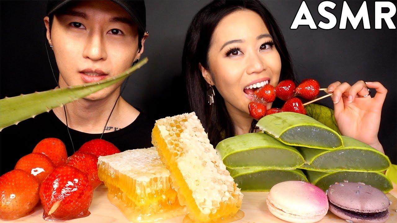 MOST POPULAR FOOD FOR ASMR with STEPHANIE SOO (Honeycomb, Aloe Vera, Tanghulu, Macarons)