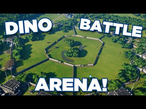 DINOSAUR BATTLE ARENA ALL DINOSAURS!!! - Jurassic World Evolution