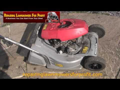 repairing lawnmowers for profit part 91 honda gv100 no. Black Bedroom Furniture Sets. Home Design Ideas