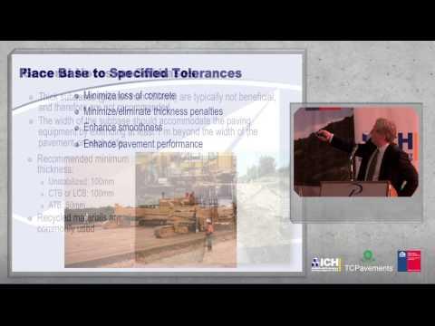 03/09/2013 Seminario Internacional de Pavimentos de Hormigón - Mark Snyder Buenas Prácticas