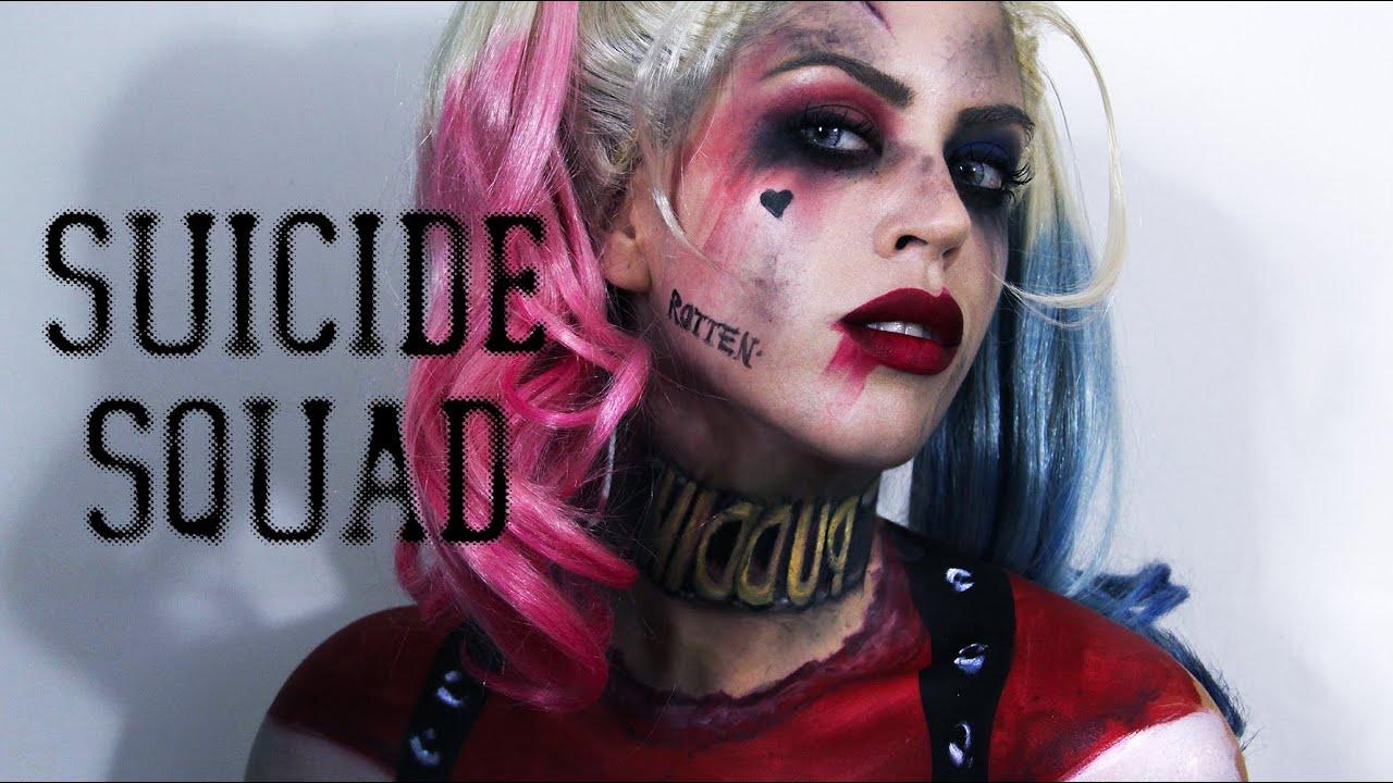 harley quinn suicide squad makeup painted costume. Black Bedroom Furniture Sets. Home Design Ideas