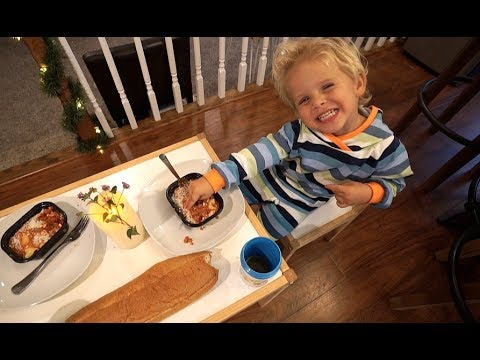 3 Year Old Tydus MAKES DINNER FOR A GIRL!!